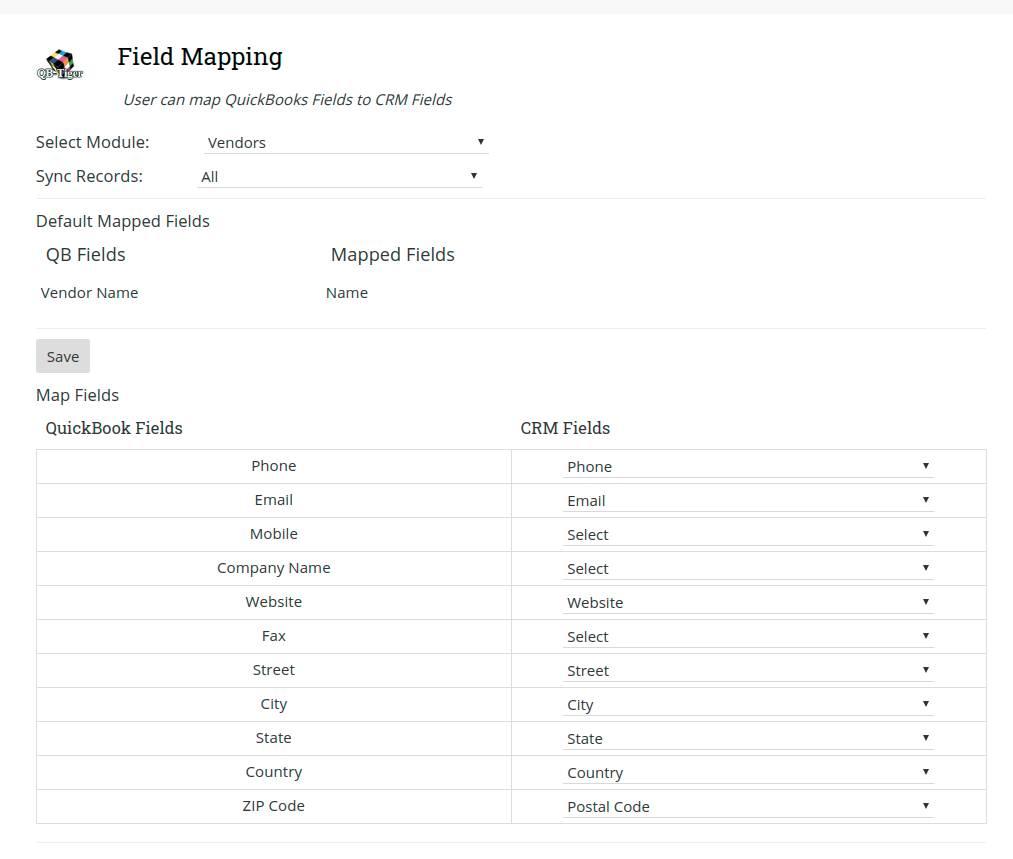 Joforce-QuickBooks-Mapping-Field