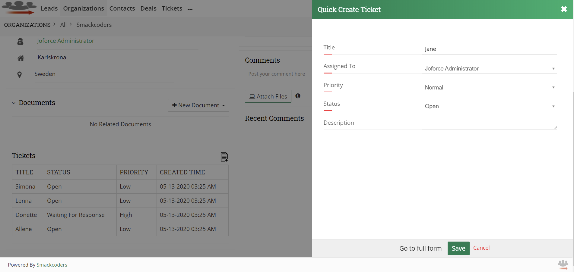quick-create-ticket-in-Joforce-Widget-Account-Tickets