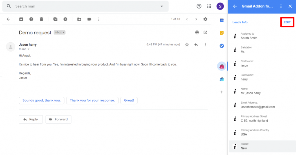 suite-gmail-addon-lead-record-detailed-view