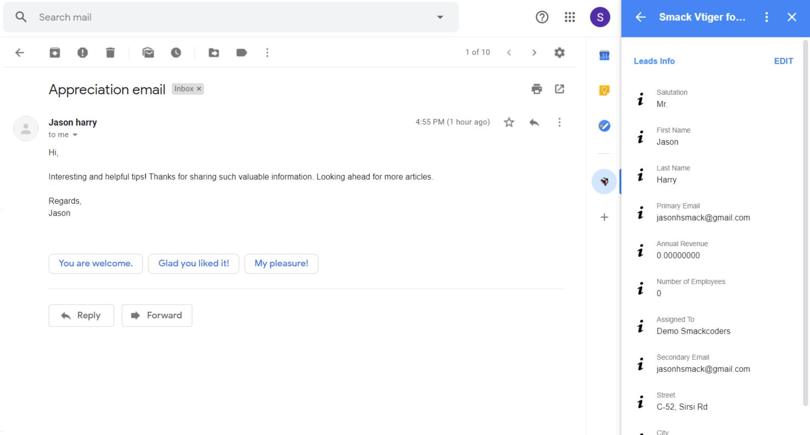 vtiger-gmail-addon-record-detailed-view